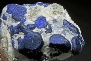 cristaux de sodalite, cristaux de pyrite : Ladjuar Medam (Lajur